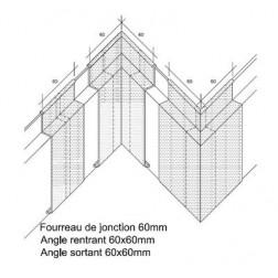 ANGLE RENTRANT POUR RF-E  15 / 100