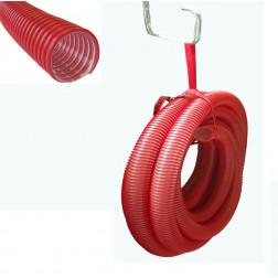TUYAU D'INSUFFLATION PVC ROUGE NW 50 AVEC 15 ml